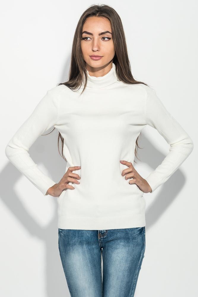 Купить Гольф женский с фактурными полосками на плечах и груди 131V005, Time of Style, Бежевый, Сливовый, Кирпичный, Песочный, Черный, Молочный, Светло-бежевый
