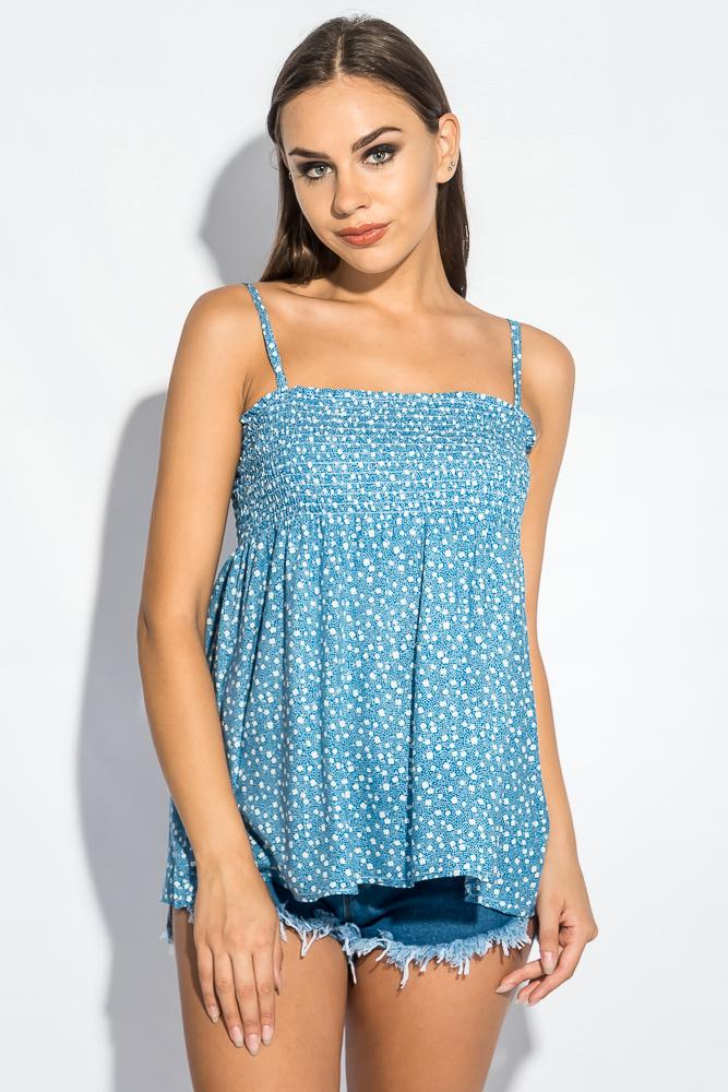 Блуза женская с нежным цветочным принтом 266F011-10 от Time of Style