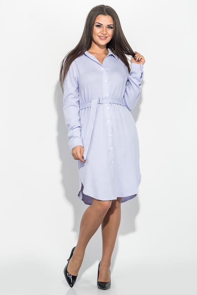 Платье (полубатал) женское с поясом, однотонное 64PD290-2