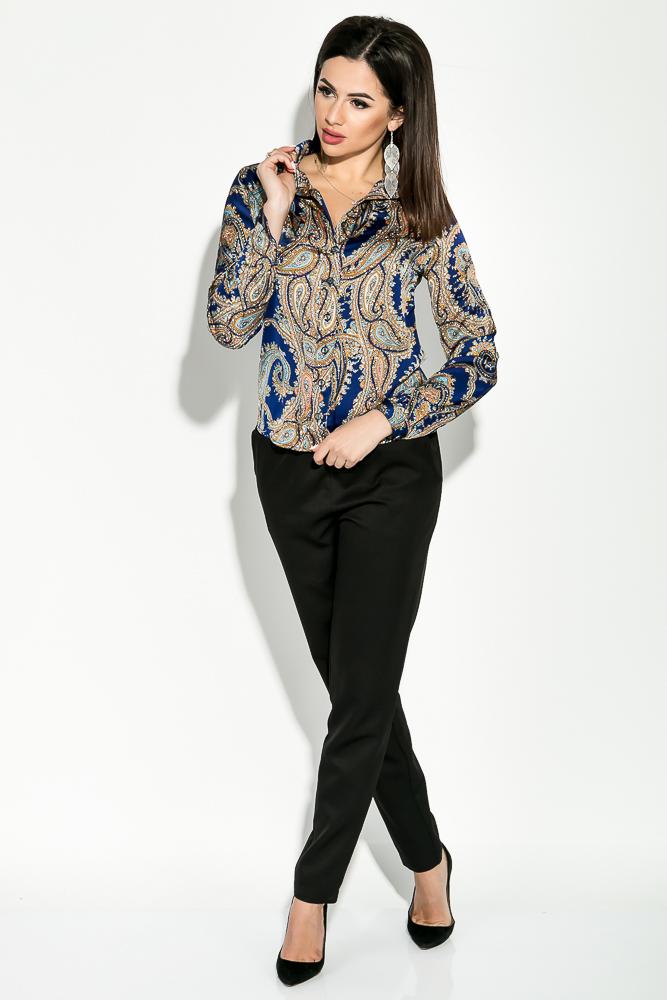 Купить Рубашка женская с принтом Вензеля 81P0093, Time of Style, Зеленый, вензеля, Кремовый, Синий