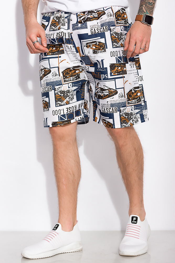 Купить Мужские шорты, Шорты 452V005-28, Time of Style, Бело-синий