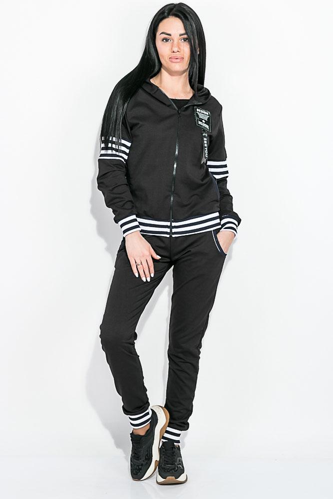 Купить Костюм женский, спортивный 77PD870, Time of Style, Светло-серый, Хаки, Черный