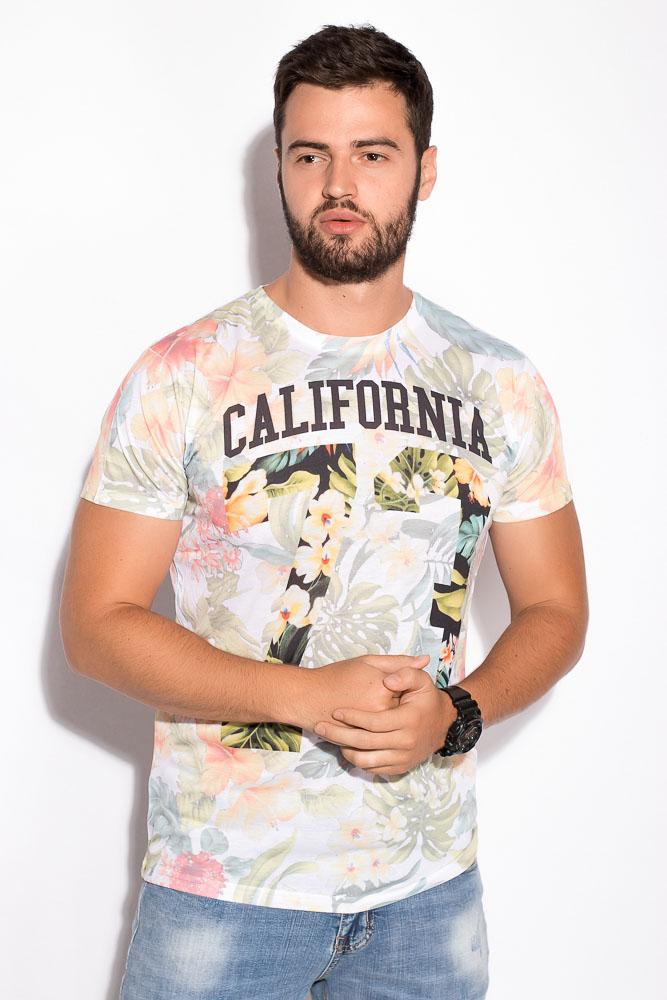 Купить Мужские футболки, Футболка 516F554, Time of Style, Цветочный принт