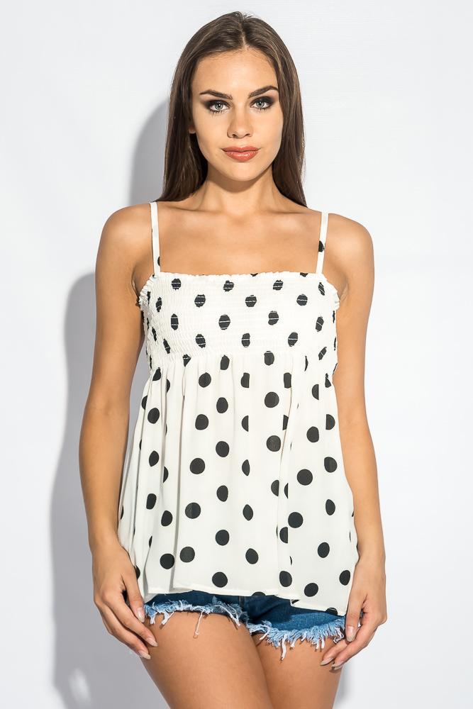 Блуза женская на тонких бретелях 266F011-5 от Time of Style