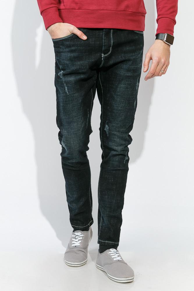 Купить Джинсы мужские темный цвет 867K007, Time of Style, Чернильный