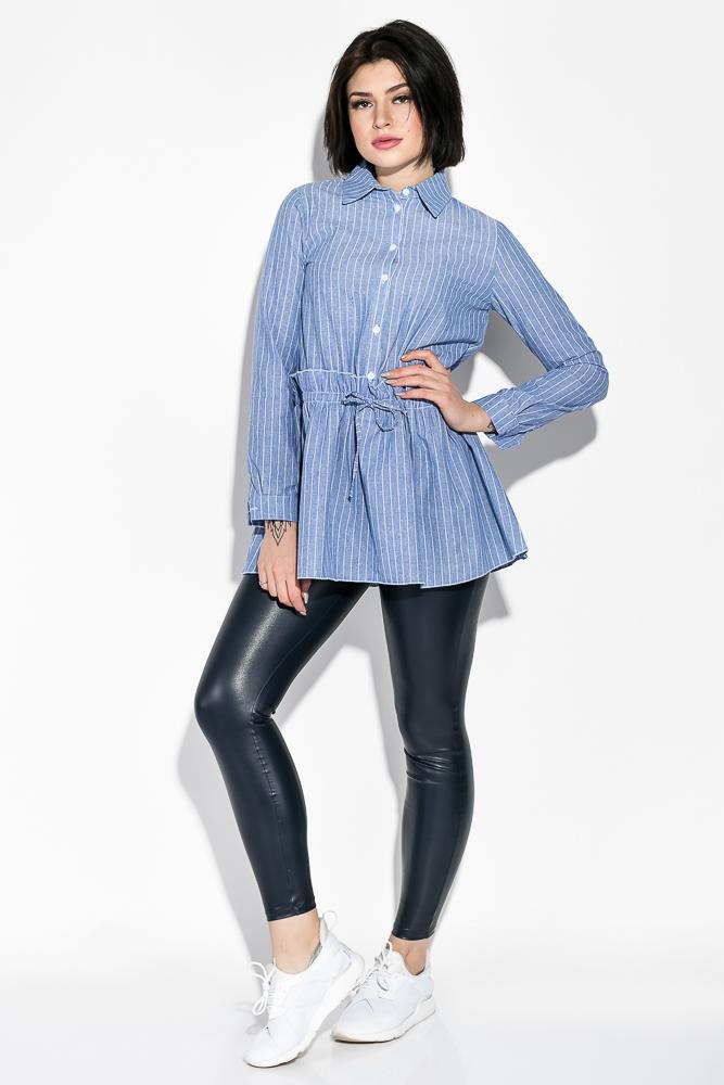 Купить Туника женская в мелкую полоску 64PD241-13, Time of Style, Голубой, полоска