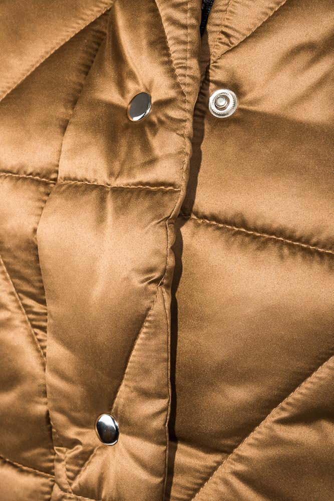 Time of Style / Куртка женская на кнопках и молнии, высокий ворот 68PD503