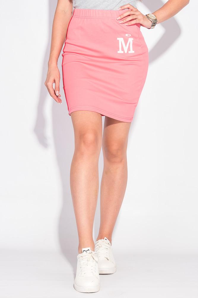 Юбка женская с лампасами 467F002, Time of Style, Изумрудный, Голубой меланж, Розовый, Голубой, Фуксия, Сизый  - купить со скидкой