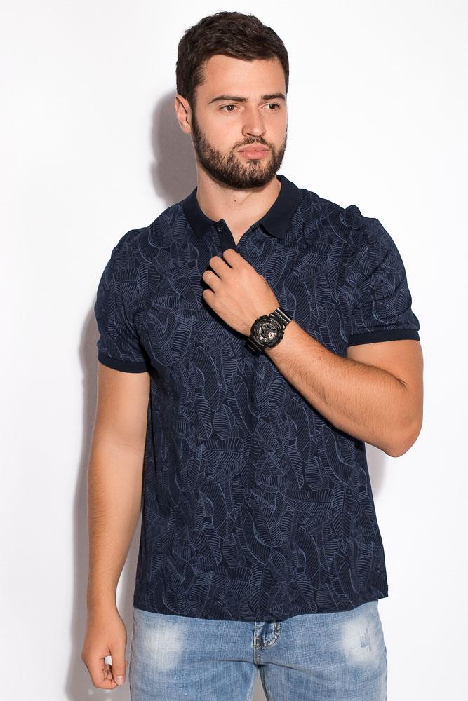 Купить Мужские футболки, Поло 230F033, Time of Style, Сине-голубой