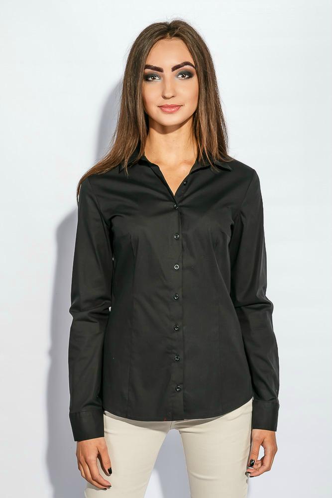 Купить Рубашка женская базовая 392F004, Time of Style, Голубой, Темно-синий, Черный, Белый, Синий