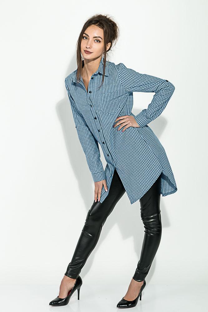Купить Туника женская, удлиненная спинка 64PD2871-3, Time of Style, Сине-голубой