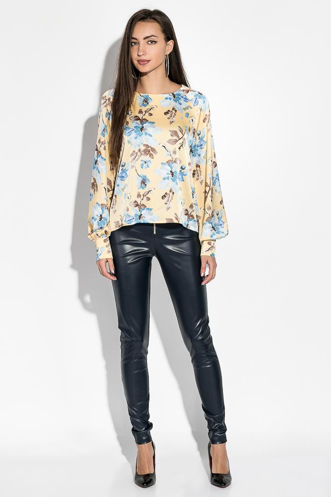 Купить Блузка женская с цветочным принтом 64PD360, Time of Style, Желтый, цветы