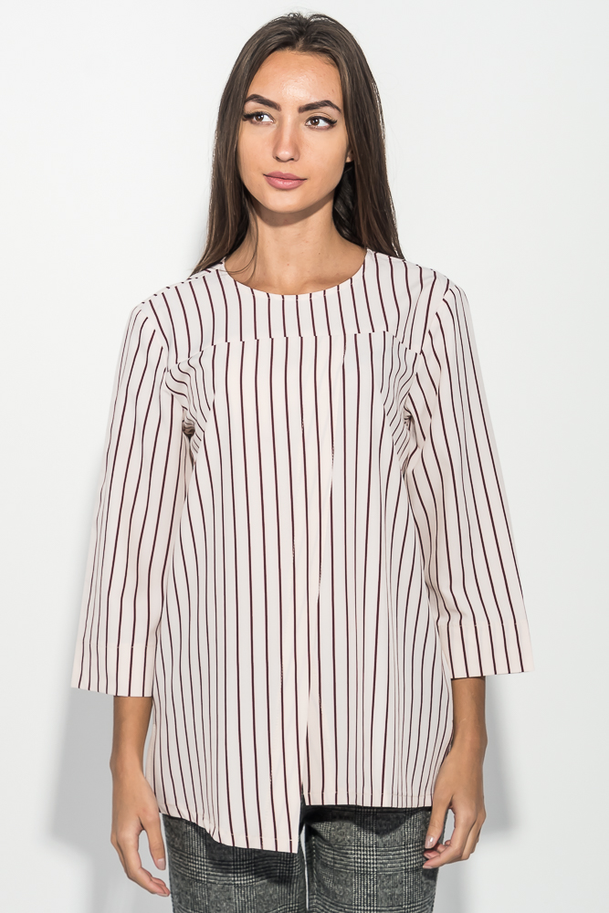 Блузка женская в полоску, с рукавом три четверти 64PD289