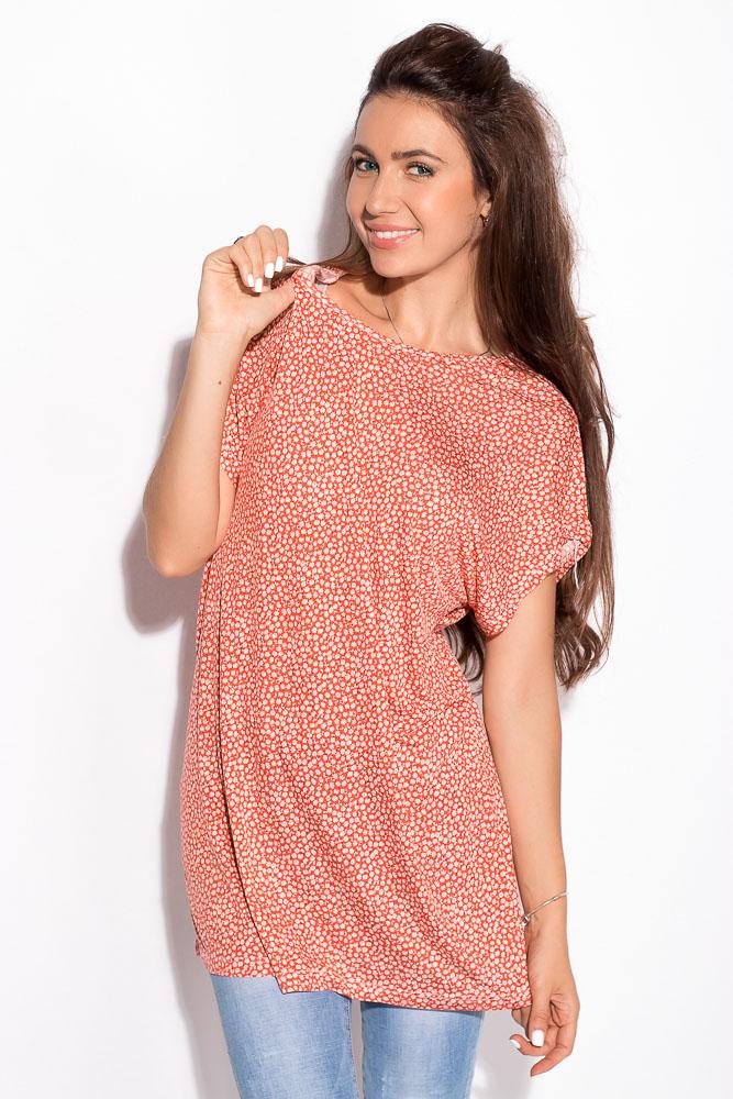 Купить Женские футболки, Футболка батал 122P012-1, Time of Style, Коралловый