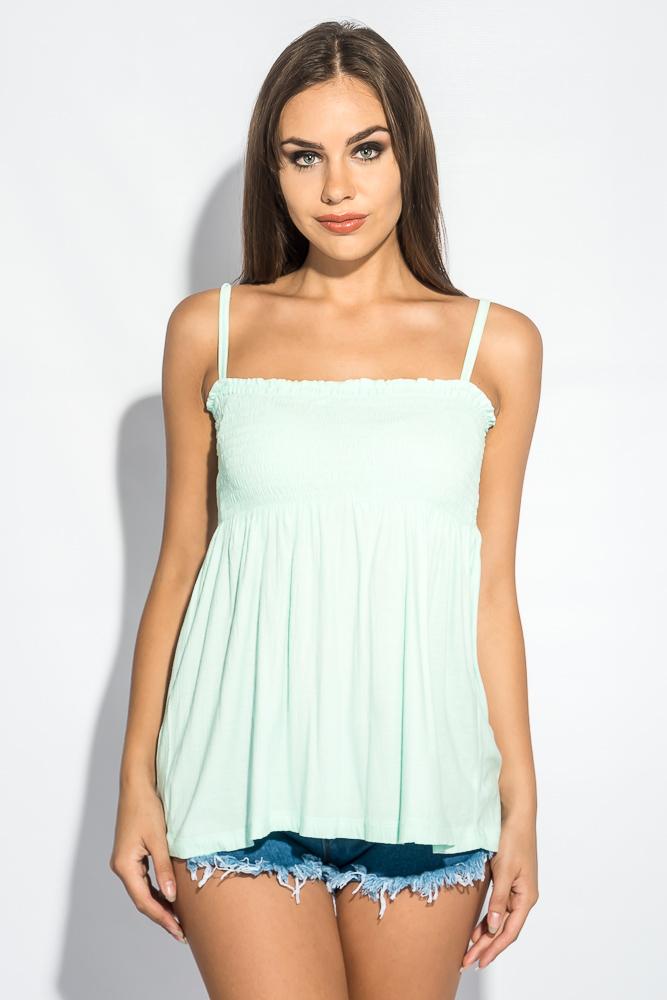 Блуза женская штапель на широкой резинке на груди 266F011-6 от Time of Style