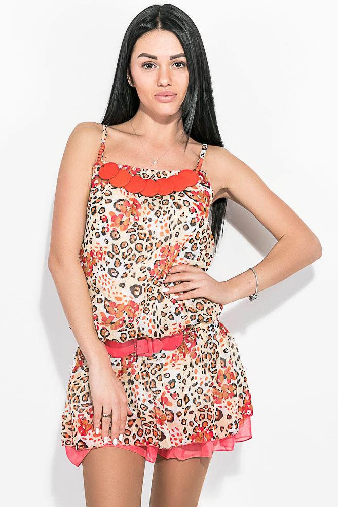 Купить Туника женская с леопардовым принтом 81P1329, Time of Style, Леопардовый