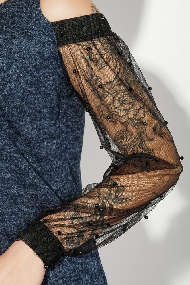 Time of Style / Платье женское с вырезами на  плечах  64PD2681-1