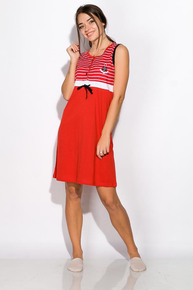 Ночная рубашка женская 107P2712, Красно-белый;сине-белый