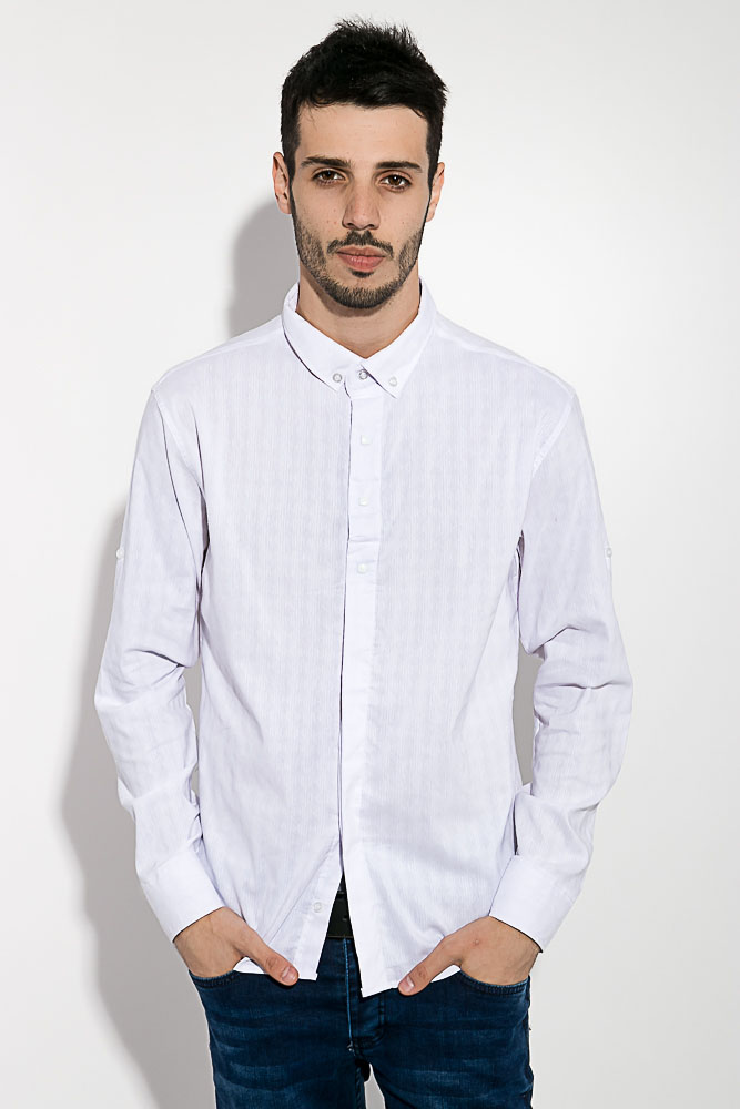 Купить Мужские рубашки, Рубашка мужская 511F004-4, Time of Style, Белый
