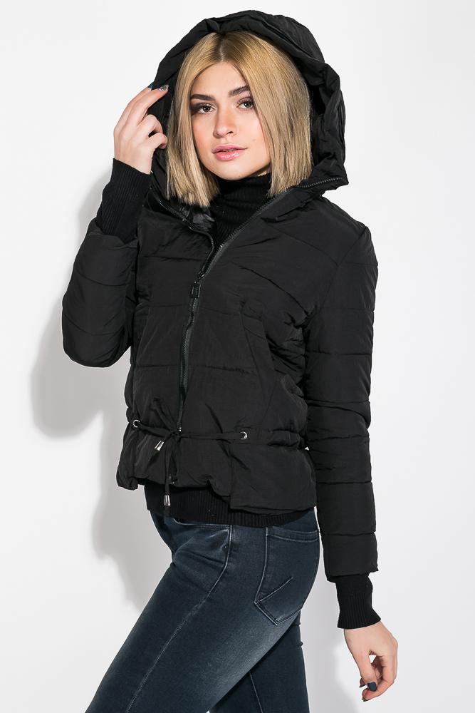 Купить Куртка женская с капюшоном 677K007, Time of Style, Темный хаки, Хаки