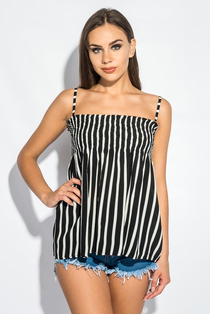 Блуза женская с контрастным принтом 266F011-12 от Time of Style