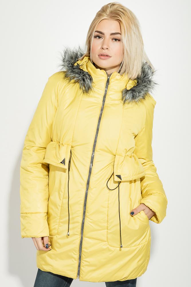 Купить Верхняя одежда, Куртка женская с капюшоном 68PD2139-1, Time of Style, Желтый