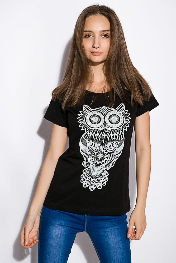 Купить Женские футболки, Футболка женская 211F063, Time of Style, Белый, Бледно-желтый, Горчичный, Красный, Мятный, Светло-серый, Серый, Черный
