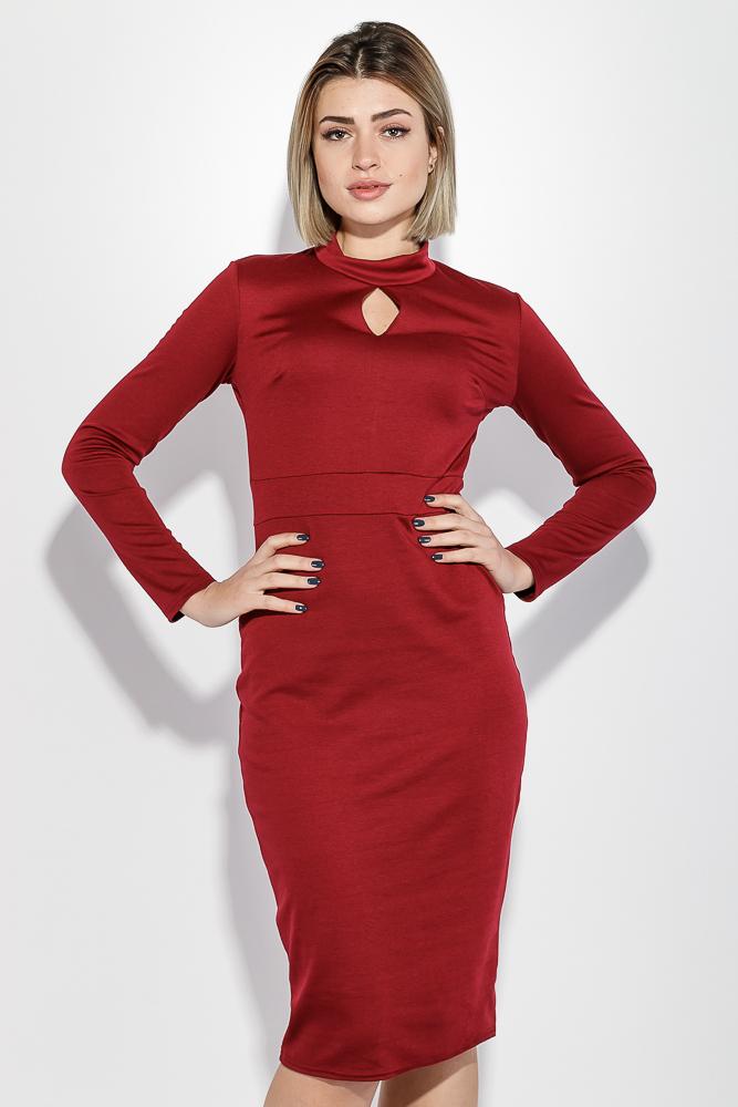 Платье женское с каплевидным вырезом, длинный рукав 72PD208 от Time of Style