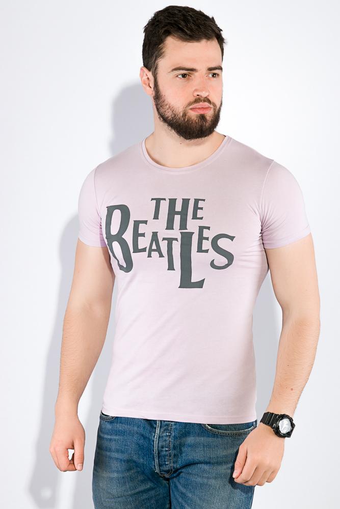 Купить Мужские футболки, Футболка мужская The Beatles 516F346, Time of Style, Белый, Бледно-сиреневый, Голубой, Песочный, Синий, Темно-синий