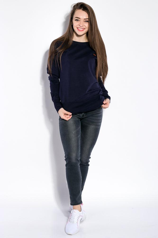 Купить Женские свитера, Свитшот женский, однотонный 32P061, Time of Style, Черный, Темно-синий, Хаки