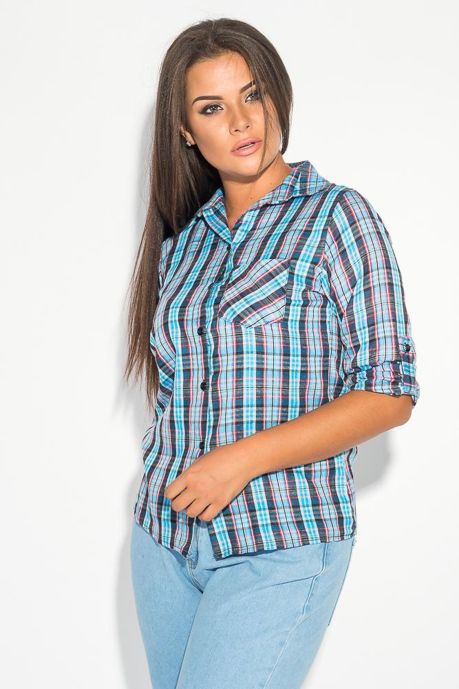 Рубашка женская с рукавом три четверти 52P002-6