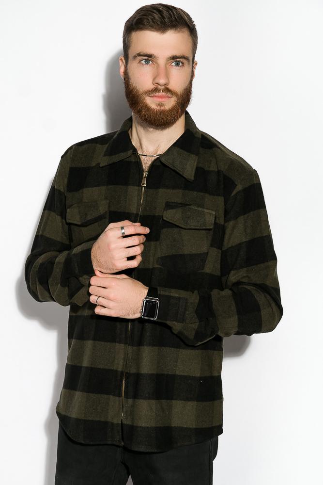 Купить Мужские рубашки, Рубашка 120PPOB003-1, Time of Style, Красно-черный, Зелено-черный, Черный/светло-коричневый, Черно-серый, Бело-черный, Синий