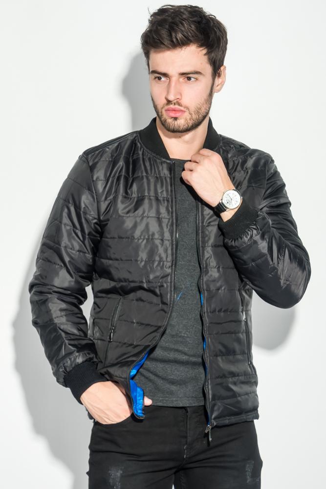Купить Куртка мужская демисезон 491F003, Time of Style, Черно-синий, Черно-бордовый, Черно-изумрудный, Черно-терракотовый, Сине-изумрудный, Сине-бордовый, Синий