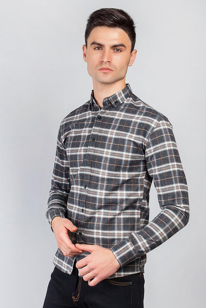 Купить Рубашка с длинным рукавом 371F001, Time of Style, Сине-голубой, Сине-зеленый, Грифельно-красный, Серо-бежевый