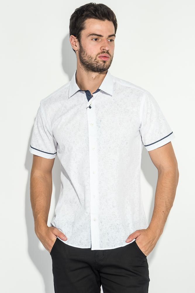 Купить Рубашка мужская светлая с принтом 50P2239-2, Time of Style, Белый