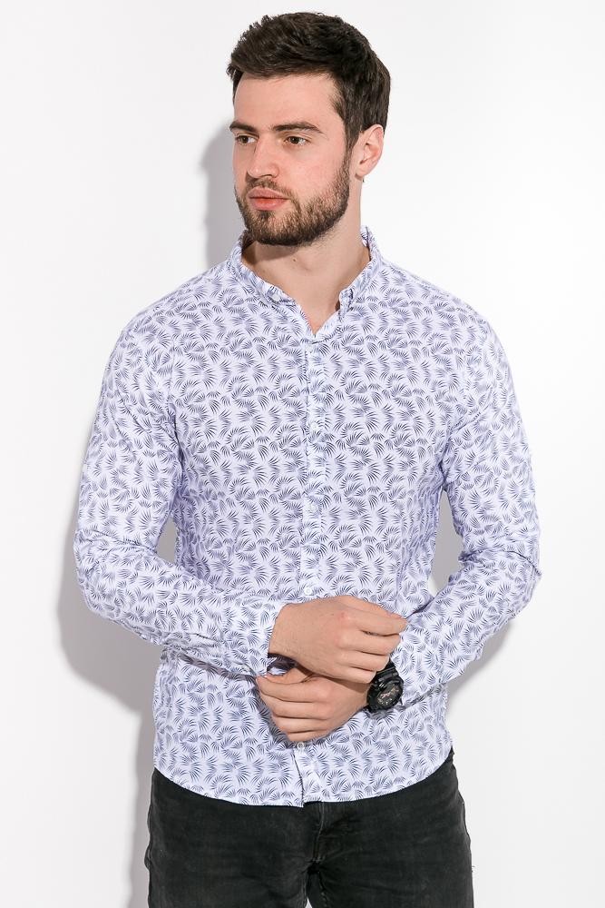 Купить Мужские рубашки, Рубашка мужская, принтованная 511F005-2, Time of Style, Белый, Джинс, Марсала, Темно-синий, Хаки