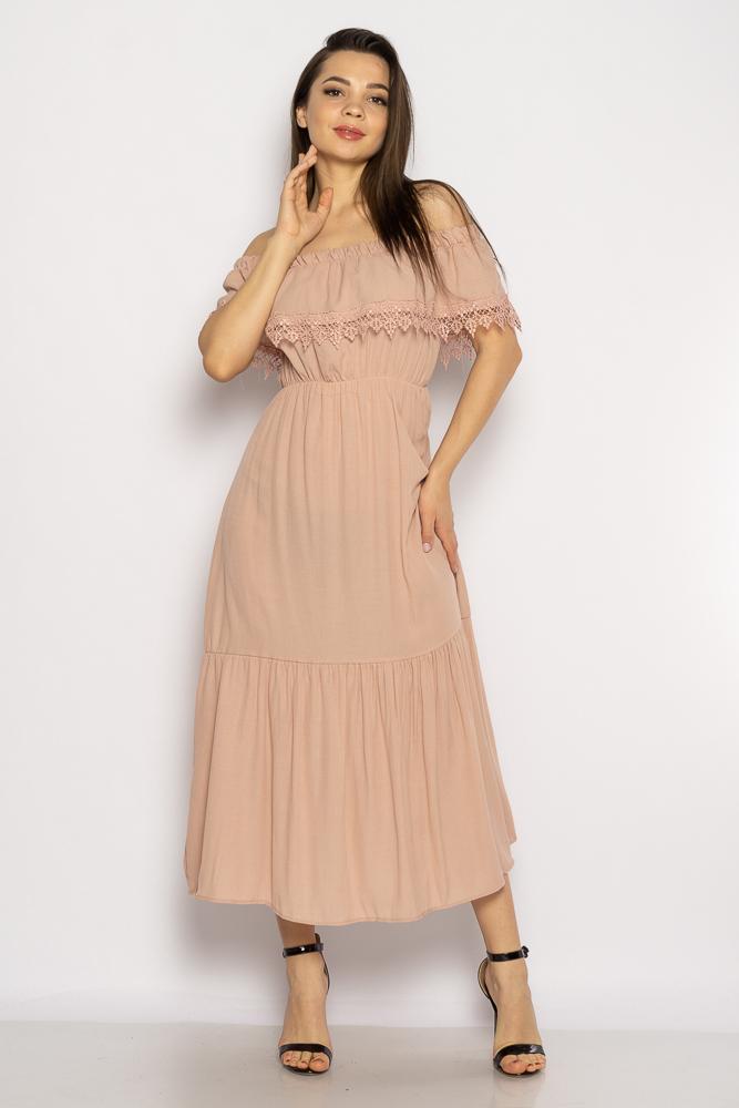 Акция на Однотонное платье со спущенными рукавами 632F014 от Time Of Style - 12