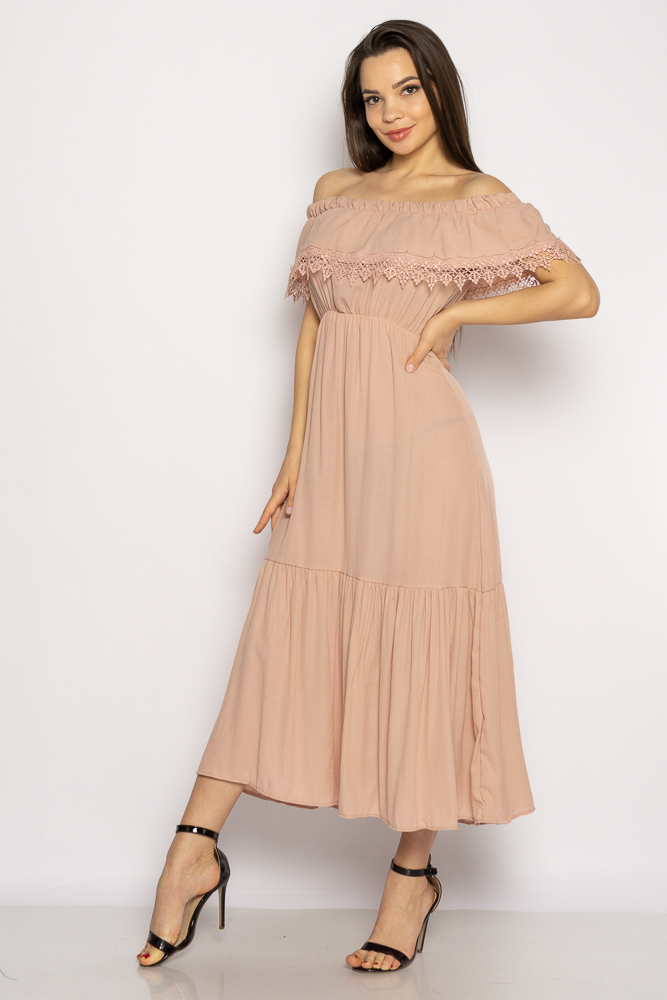 Акция на Однотонное платье со спущенными рукавами 632F014 от Time Of Style - 13