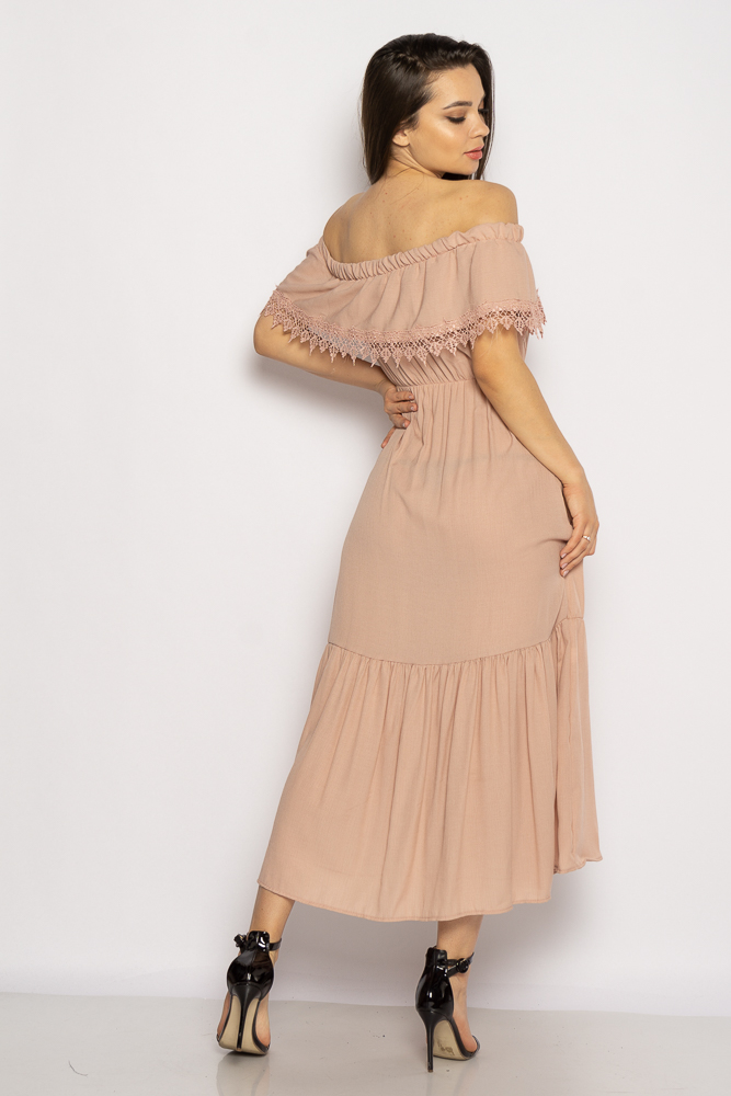 Акция на Однотонное платье со спущенными рукавами 632F014 от Time Of Style - 15