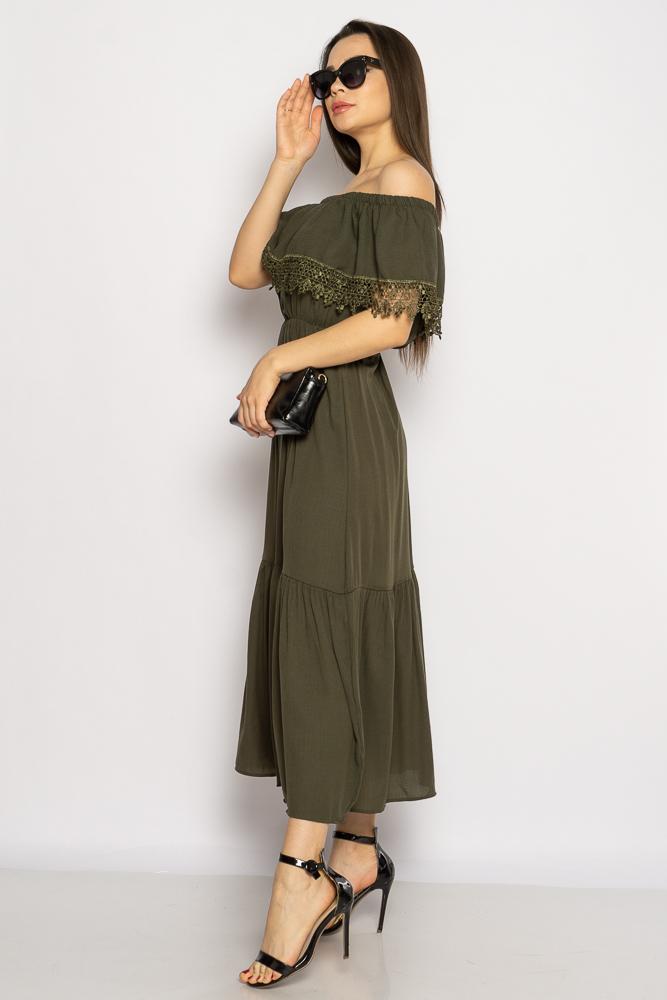 Акция на Однотонное платье со спущенными рукавами 632F014 от Time Of Style - 4