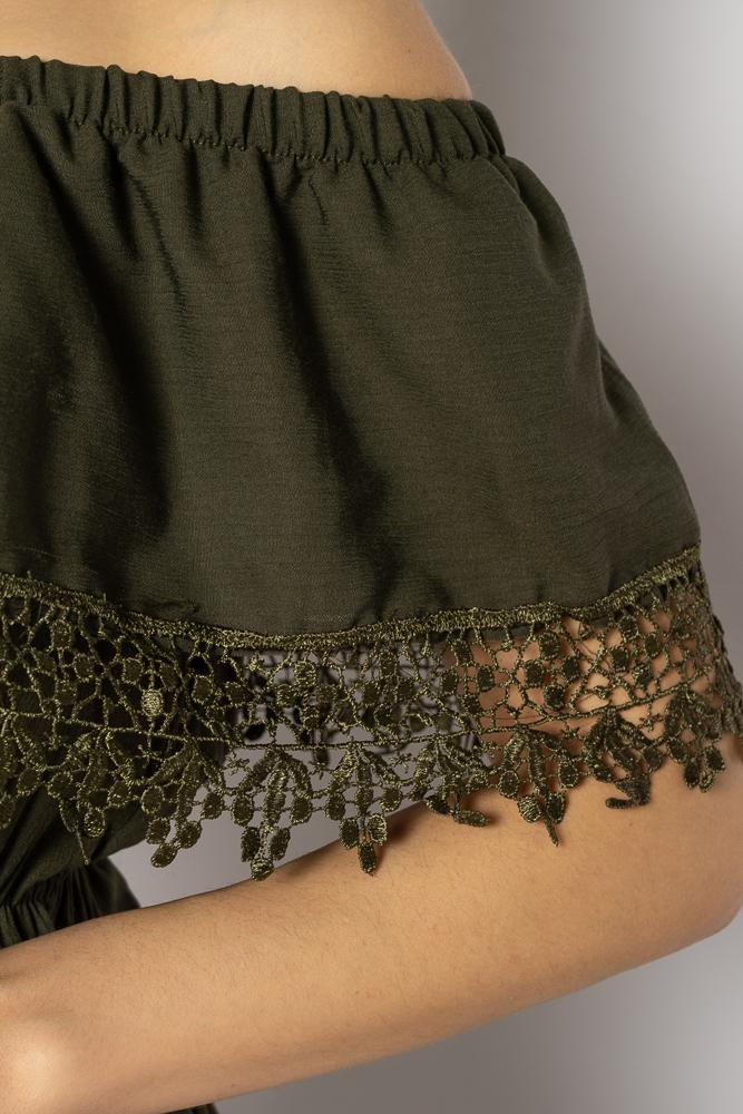 Акция на Однотонное платье со спущенными рукавами 632F014 от Time Of Style - 6