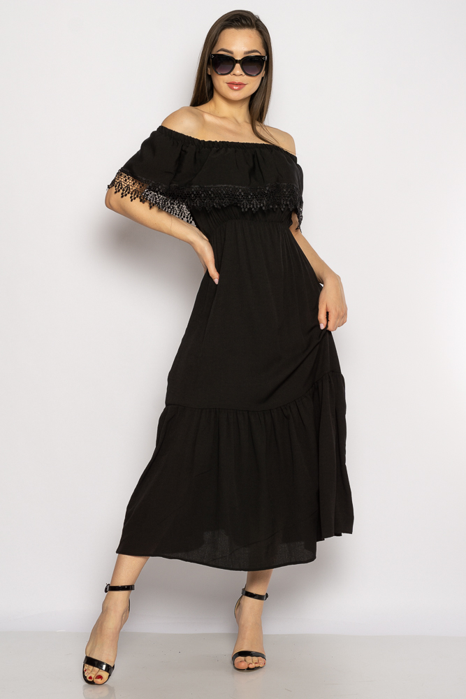 Акция на Однотонное платье со спущенными рукавами 632F014 от Time Of Style - 10