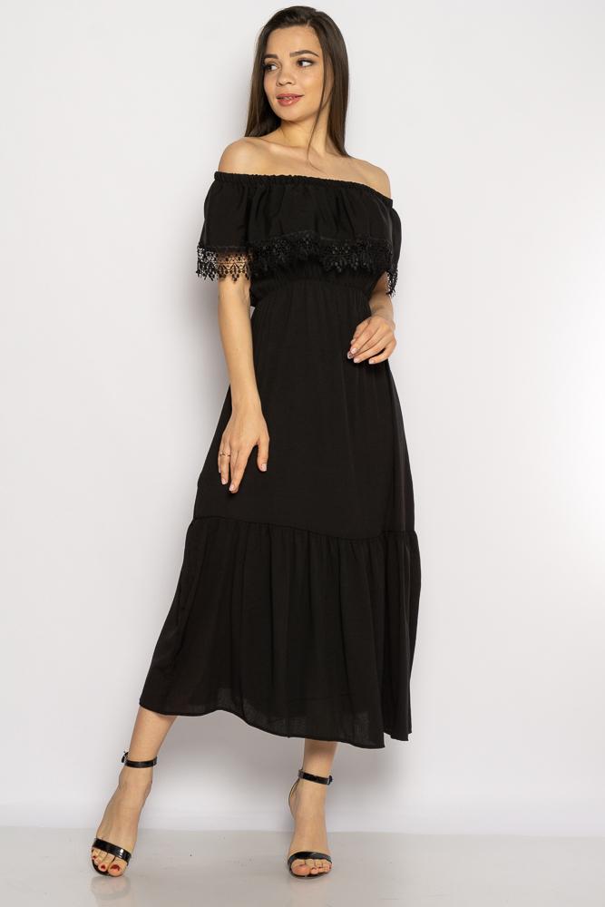 Акция на Однотонное платье со спущенными рукавами 632F014 от Time Of Style - 7