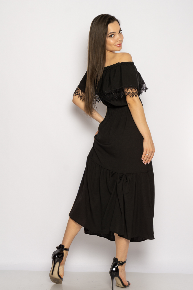 Акция на Однотонное платье со спущенными рукавами 632F014 от Time Of Style - 9