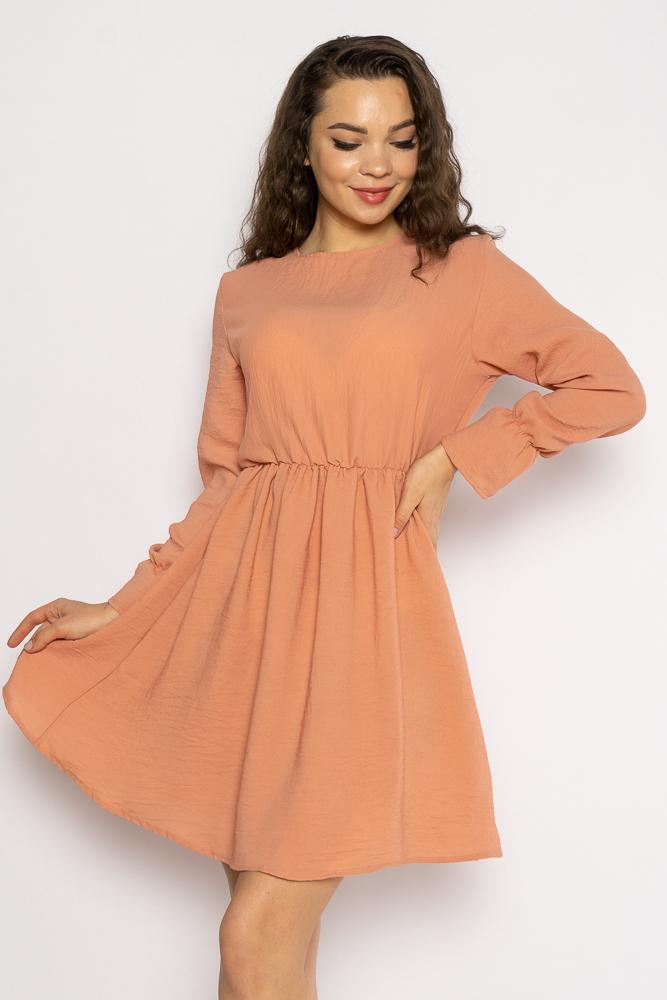 Акция на Однотонное платье с длинными рукавами 632F004-3 от Time Of Style - 3