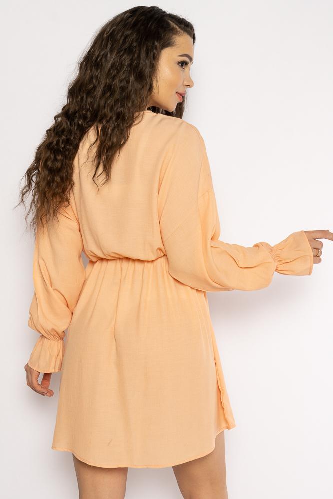 Акция на Однотонное платье с длинными рукавами 632F004-3 от Time Of Style - 7