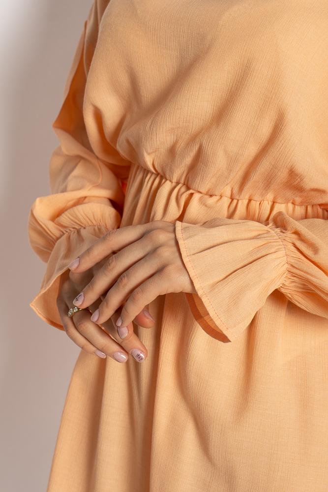 Акция на Однотонное платье с длинными рукавами 632F004-3 от Time Of Style - 13