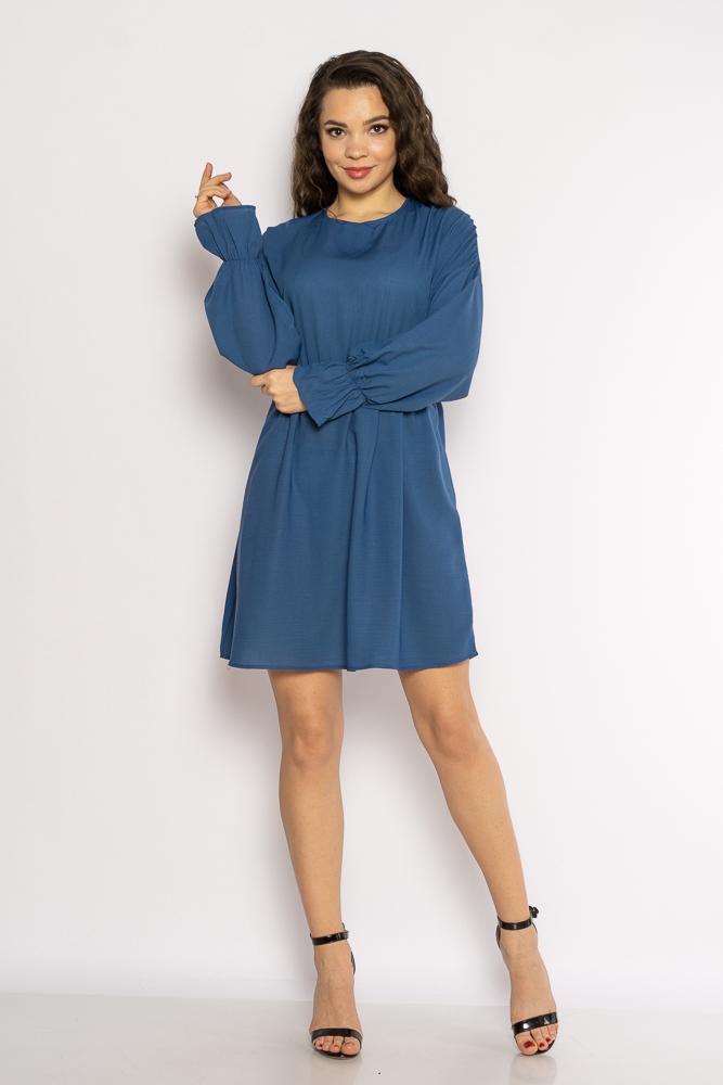 Акция на Однотонное платье с длинными рукавами 632F004-3 от Time Of Style - 14