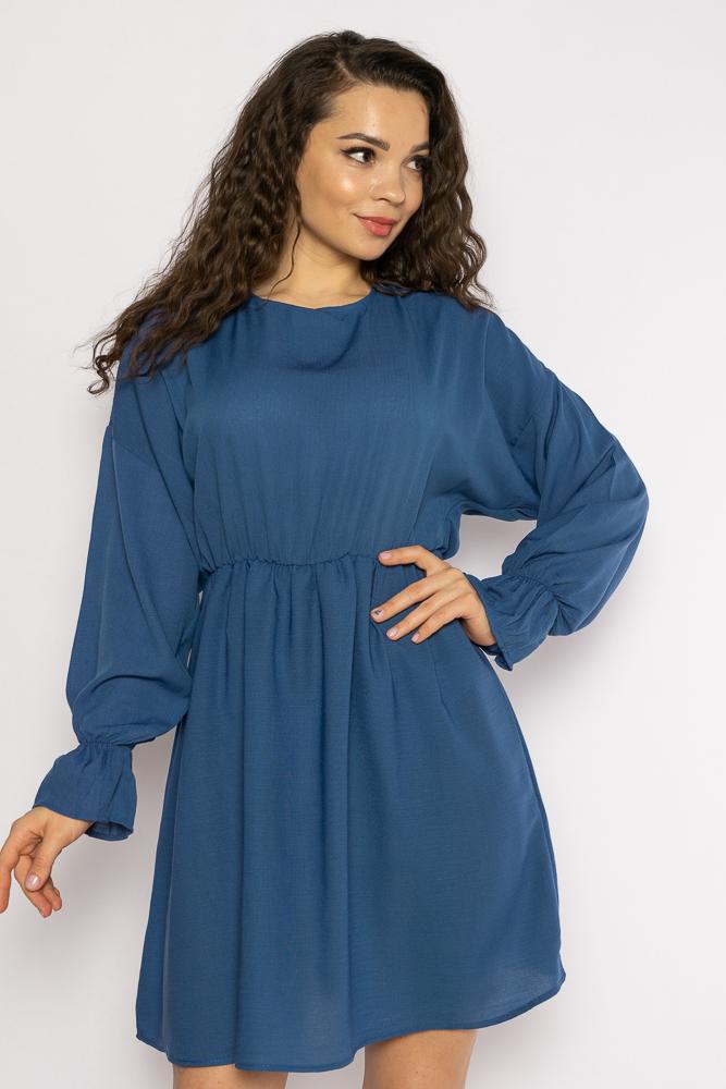 Акция на Однотонное платье с длинными рукавами 632F004-3 от Time Of Style - 15