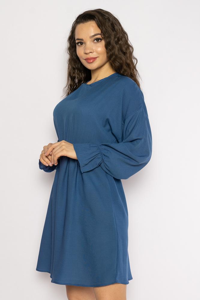Акция на Однотонное платье с длинными рукавами 632F004-3 от Time Of Style - 16